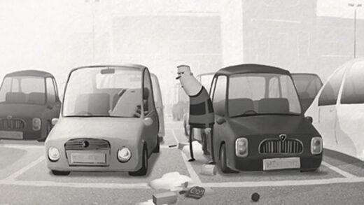 Carpark. Cortometraje y comedia británica de animación de Ant Blades