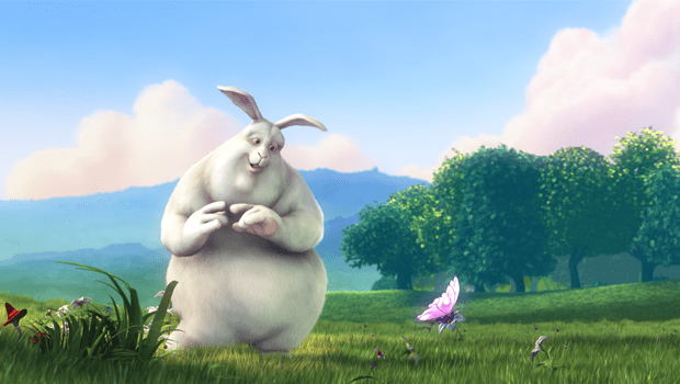 Big Buck Bunny. Cortometraje holandés de animación Blender Foundation