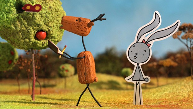 Rabbit and Deer - Nyuszi és Öz. Cortometraje húngaro online de animación