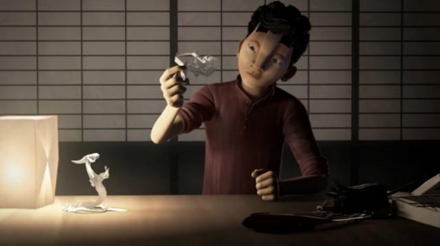 Origami cortometraje español de animación