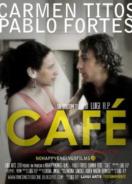 Café cortometraje cartel poster