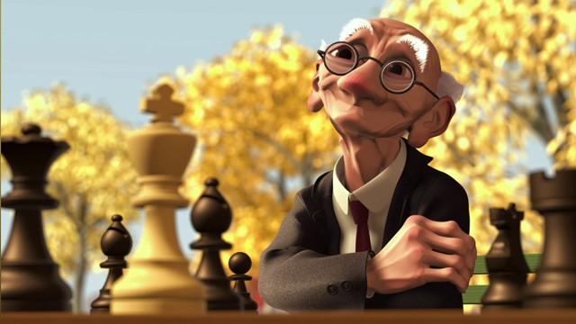 El juego de Geri. Cortometraje de animación de Pixar