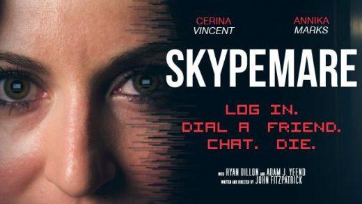 Skypemare. Cortometraje de terror de John Fitzpatrick con Cerina Vincent