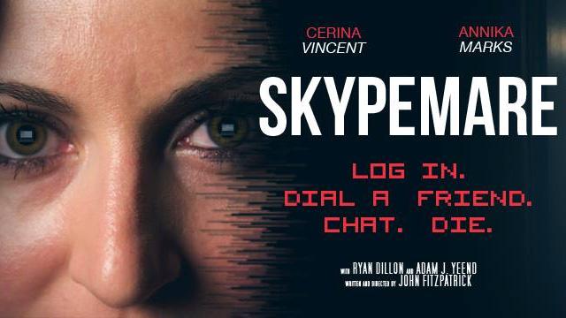 Skypemare. Cortometraje de terror con Cerina Vincent