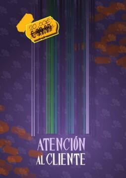 Atención al cliente corto cartel poster