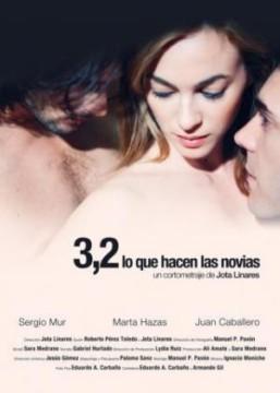 3,2 (lo que hacen las novias) cortometraje cartel