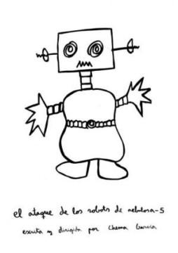 El ataque de los robots de Nebulosa-5 cortometraje cartel