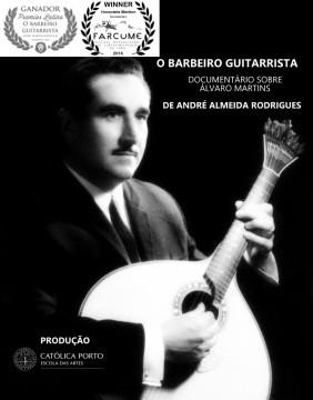 O barbeiro guitarrista cortometraje cartel