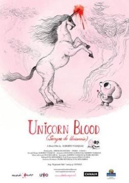 Sangre de unicornio Cortometraje Cartel