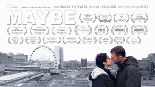Maybe. Cortometraje de John Grey con Richard Carter y Zoe Weldon