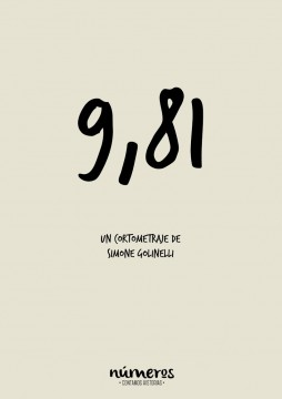 Numeros 9,81 cortometraje cartel poster