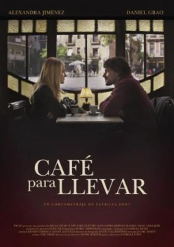 Cafe para llevar cortometraje cartel