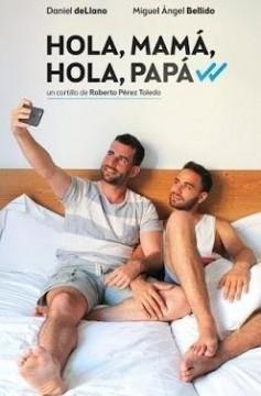 Hola, mamá, hola, papá cortometraje cartel