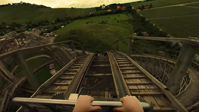 VR Roller Coaster. Cortometraje VR 360 en una montaña rusa
