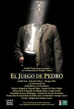 El juego de Pedro. Cortometraje cartel poster