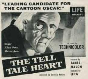 El corazón delator cortometraje cartel poster