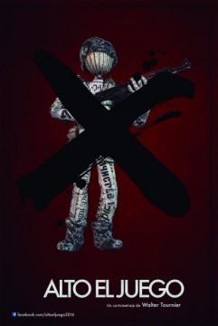Alto el juego cortometraje cartel poster