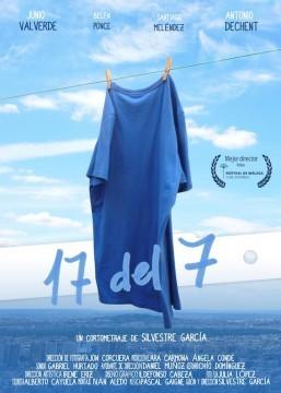 17 del 7 cortometraje cartel poster