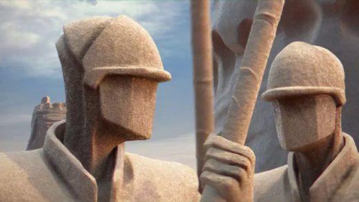 El castillo de arena. Cortometraje francés de animación