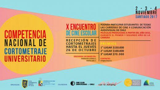 X° Encuentro de Cine Escolar Liceo Manuel de Salas.Convocatoria Concurso de Cortometraje Universitario