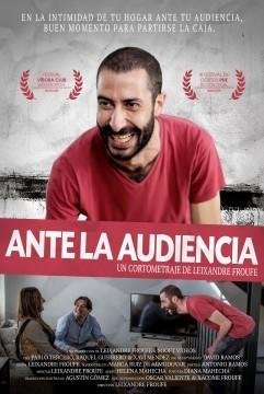 Ante la audiencia cortometraje cartel poster