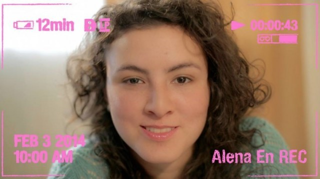 Alene en rec cortometraje cartel poster