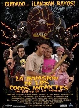 La invasion de los cocos andantes corto cartel poster