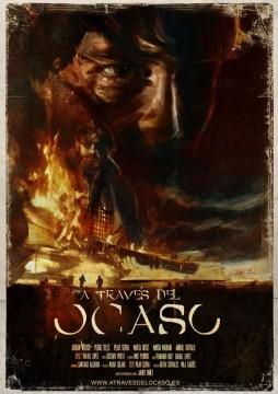 A través del ocaso cortometraje cartel poster