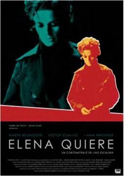Elena quiere cortometraje cartel poster