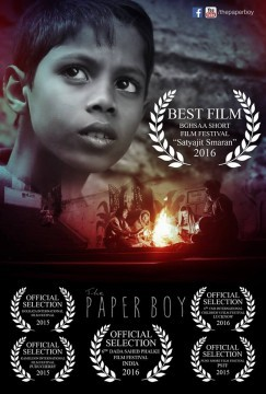 The Paperboy cortometraje cartel poster