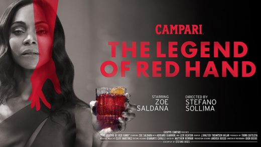 The Legend of Red Hand. Cortometraje de Campari con Zoe Saldana