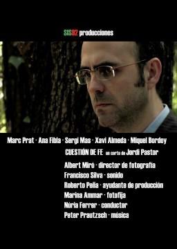 Cuestion de fe cortometraje cartel poster