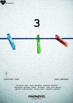 Números 3 cortometraje cartel poster