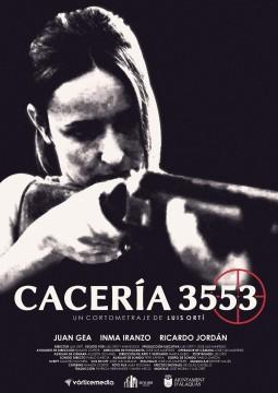Cacería 3553 cortometraje cartel poster