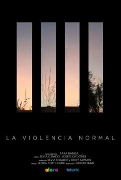 La violencia normal cortometraje cartel poster