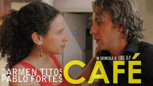 Café. Cortometraje español escrito y dirigido por Luigi Rodríguez