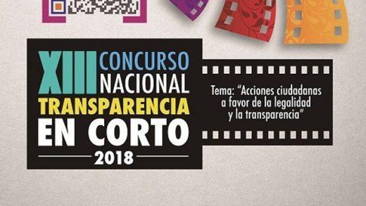 Se convoca el XIII Concurso Nacional de Transparencia en Corto