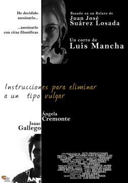 Instrucciones para eliminar a un tipo vulgar cortometraje cartel poster