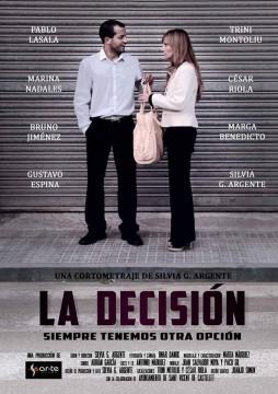 La decisión cortometraje cartel poster