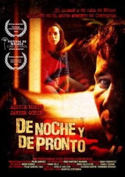 De noche y de pronto cortometraje cartel poster