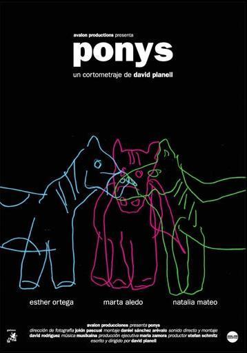 Ponys corto cartel poster