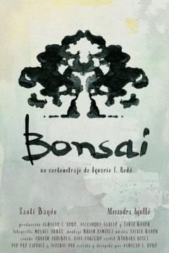 Bonsai cortometraje cartel poster