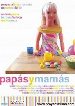 Papás y mamás cortometraje cartel poster