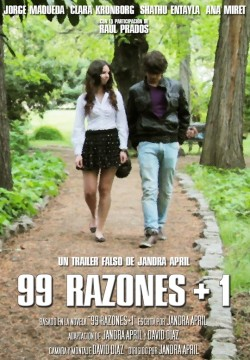 99 razones + 1 cortometraje cartel poster