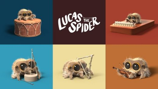 Lucas the Spider - One Man Band. Cortometraje animación Joshua Slice