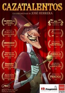 Cazatalentos cortometraje cartel poster