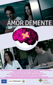 Amor demente cortometraje cartel poster