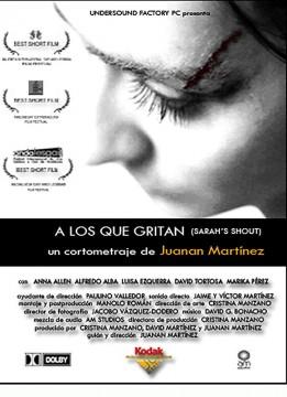 A los que gritan cortometraje cartel poster