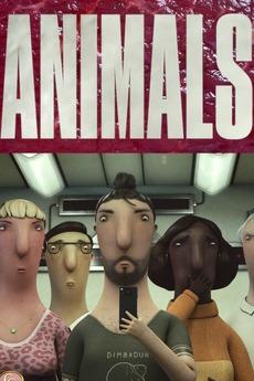 Animals corto cartel poster