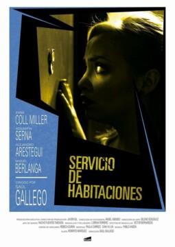 Servicio de habitaciones corto cartel poster